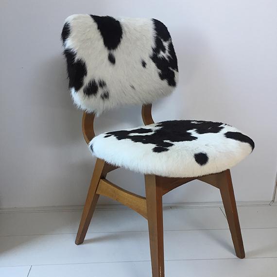 Koeienstoel zwart/wit
